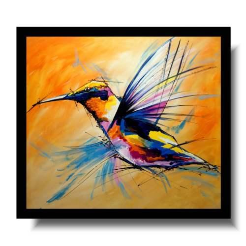 Kolorowe obrazy ze zwierzętami egzotyczny ptak koliber obraz nowoczesny 1720A