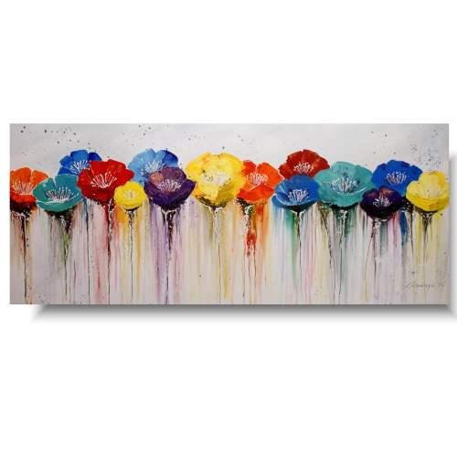 duży obraz z kwiatami