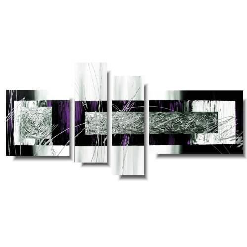Obrazy nowoczesne delikatna fioletowa abstrakcja