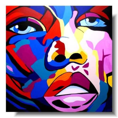 portret kolorowe obrazy z komiksu