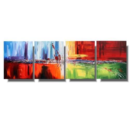 Abstrakcja obraz dzielony cztery pory roku