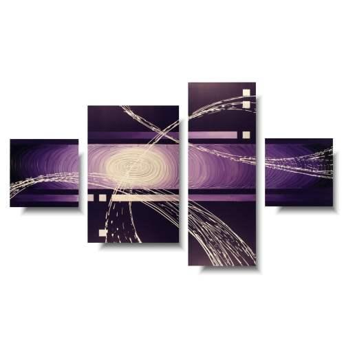 Fioletowy obraz abstrakcyjny