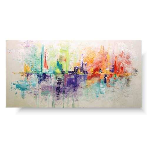 Kolorowa abstrakcja delikatna radość
