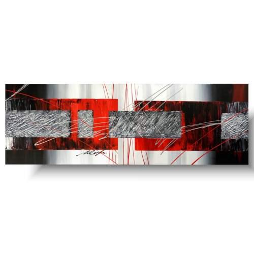 Nowoczesna abstrakcja czerwona radość