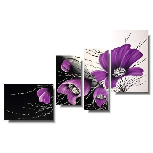 Nowoczesne obrazy kwiaty fioletowe
