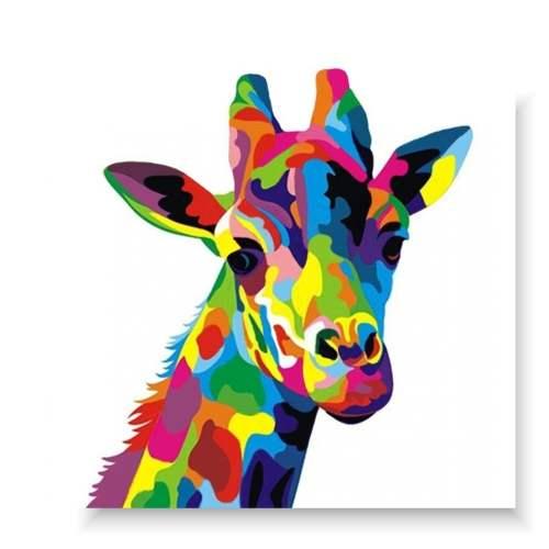 obraz kolorowa żyrafa