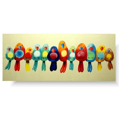 obraz kolorowe ptaki