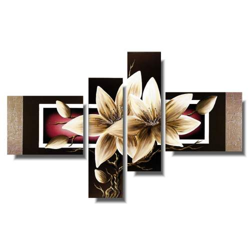 Obraz kwiaty beżowy amarylis