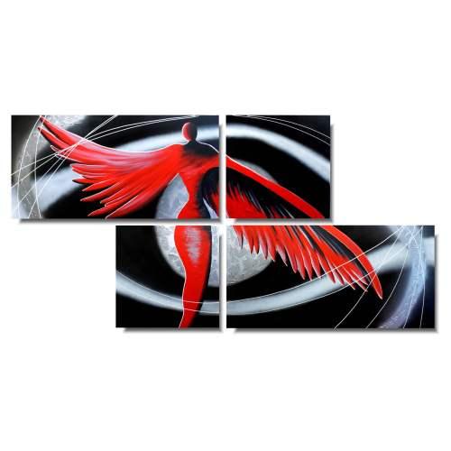 obraz samotny czerwony anioł