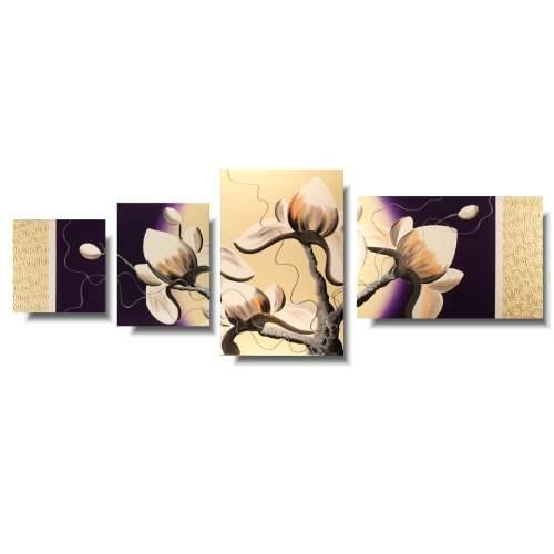 malowany obrazfioletowa magnolia