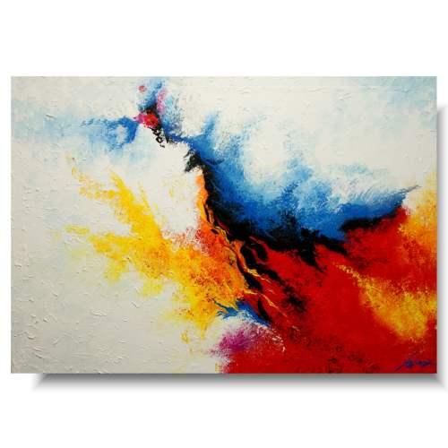 nowoczesny obraz ogień i woda