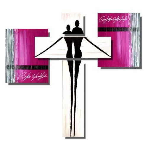Abstrakcja 3d różowa para