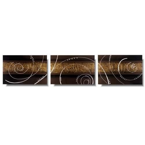 Elegancki obraz złoty sen tryptyk