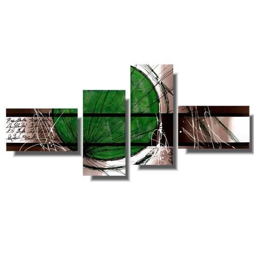 Obraz nowoczesna pozytywne zielone koło 907A