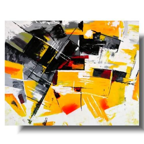 Elegancki obraz żółty nieład