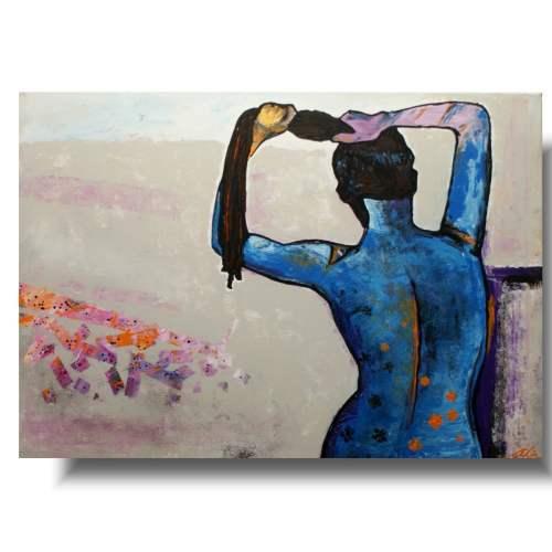 Nowoczesny obraz kobieta myjąca włosy 1329A