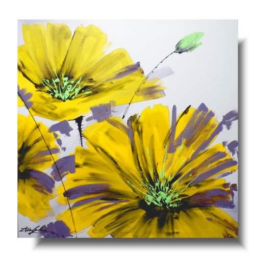 Duży obraz żółty kwiat 1235D