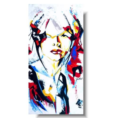 Kolorowy portret silna kobieta