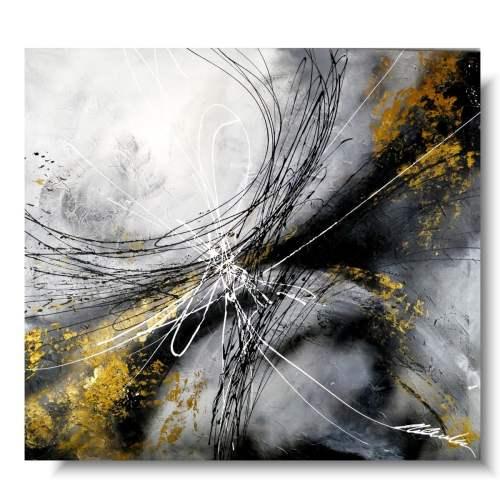 Elegancki obraz abstrakcja złoty wiatr
