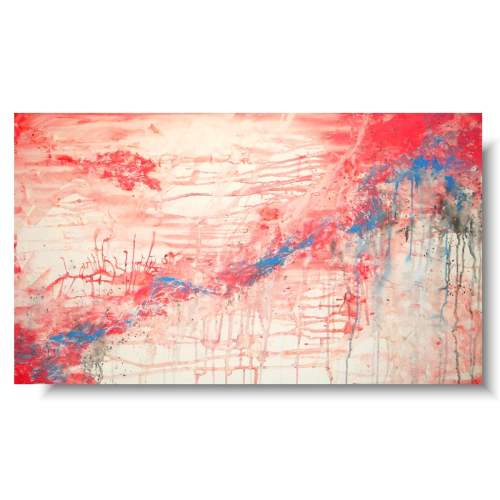 Modny obraz abstrakcja living coral