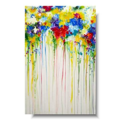 Obraz z kwiatami kolorowy bukiet