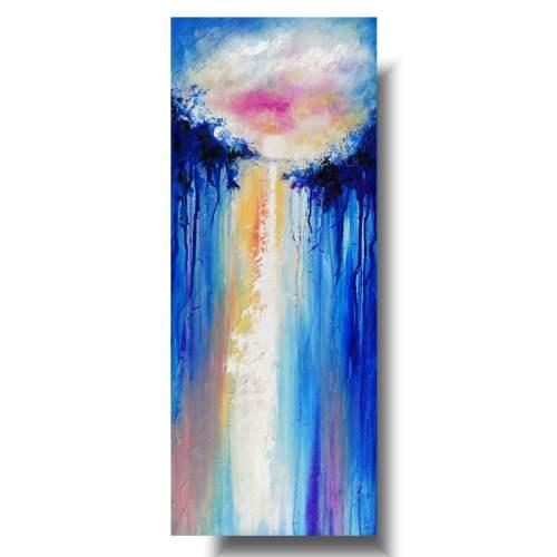 Pejzaż abstrakcyjny obraz w stronę słońca