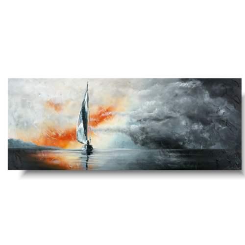 Piękny obraz burza na morzu