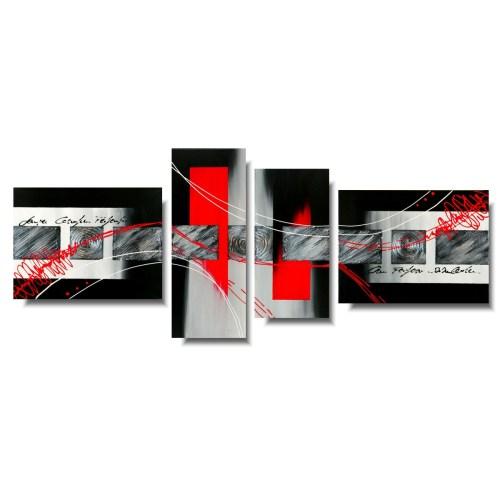 Obraz panelowy abstrakcja czerwona przestrzeń