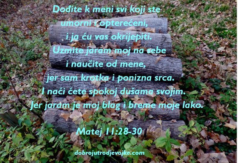 Matej 11-28-30