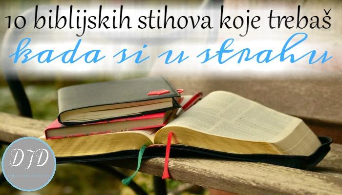 10 biblijskih stihova koje trebaš kada si u strahu