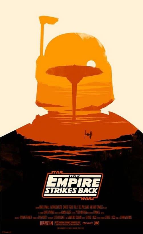 Olly-Moss-Star-Wars-posters - l'empire contre attaque