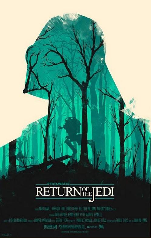 Olly-Moss-Star-Wars-posters le retour du jedi