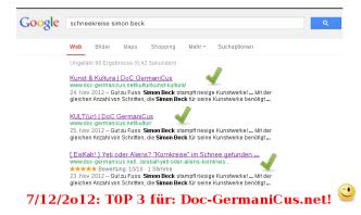 TOP 3 für DoC-GermaniCus.net! (07/12/12)
