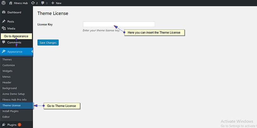 Fitness Hub Pro – AcmeThemes Documentation