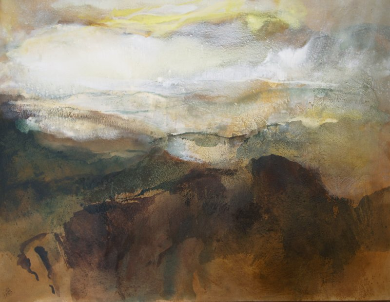 2a. Approaching storm Swaledale. ~ 140cm x 120 acrylics
