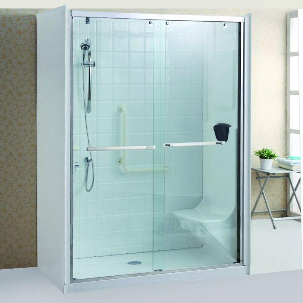 Cabina doccia cristallo 8 mm per anziani trasparente