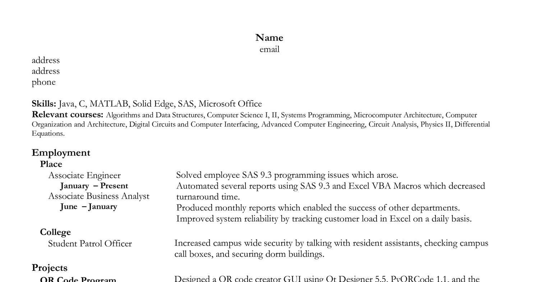 Reddit Resume No Skills - Resume Examples | Resume Template