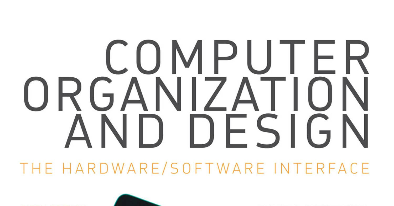 Computer Organization And Design 5Th Edition Pdf Patterson