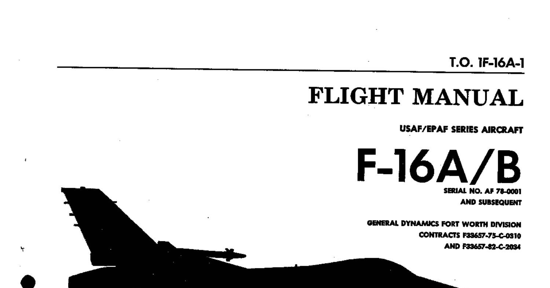 F 16ab Fighting Falcon Flight Manual Usaf