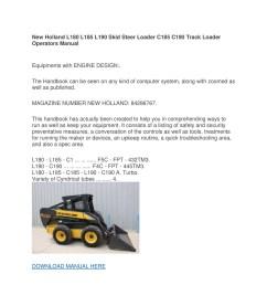 new holland l180 l185 l190 skid steer loader c185 c190 track loader operators manual pdf [ 1500 x 1500 Pixel ]
