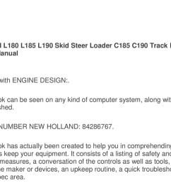 new holland l180 l185 l190 skid steer loader c185 c190 track loader operators manual pdf [ 1500 x 785 Pixel ]