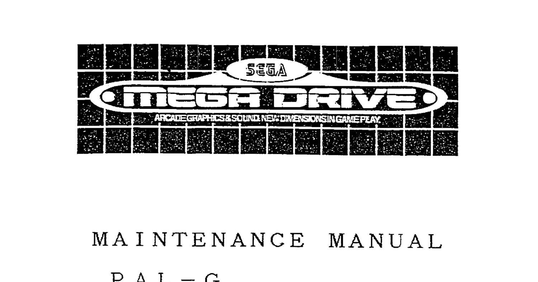 Mega_Drive_Maintenance_Manual_-_PAL-G,_August,_1992,_Rev