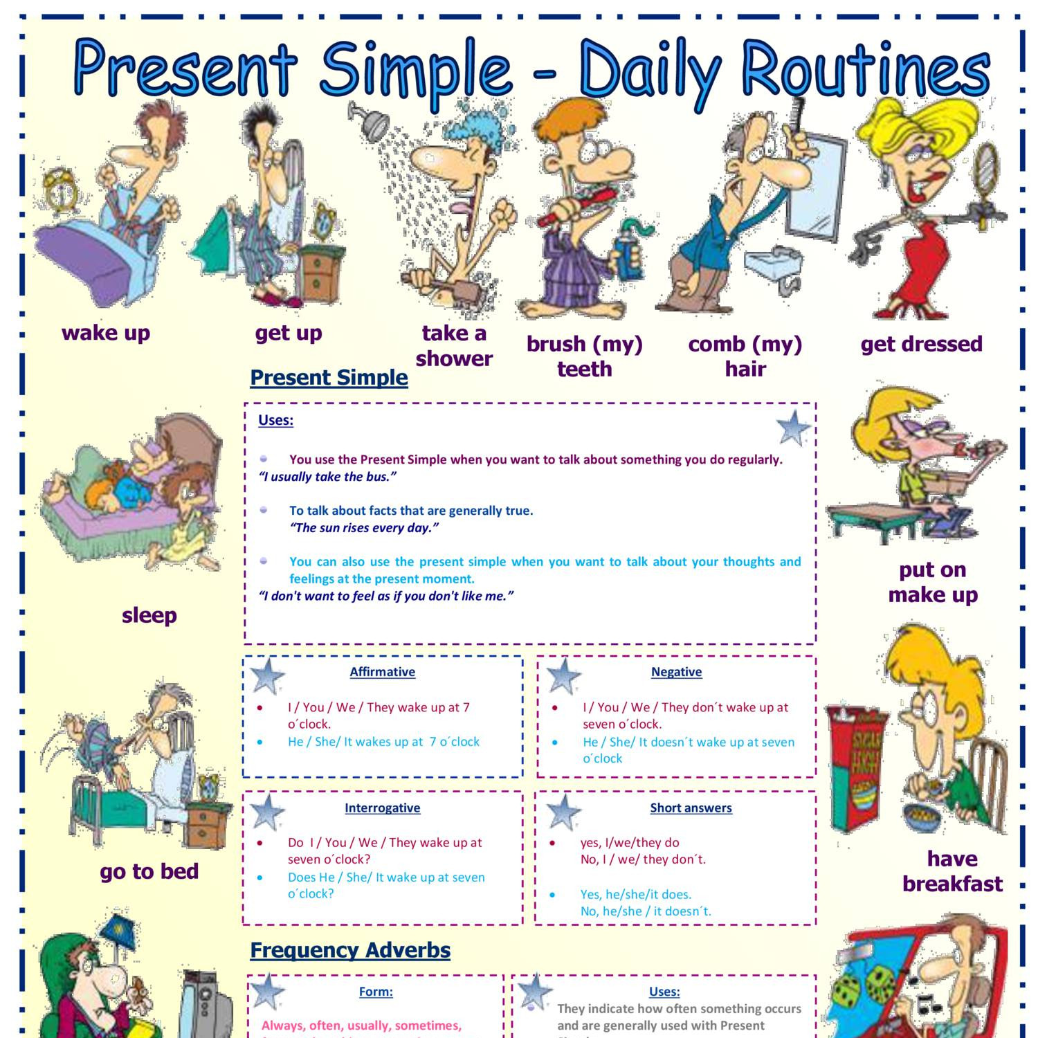 Present Simple Daily Routines Frequency Adverbs 1