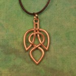 Leaf Celtic Necklaces - Brass