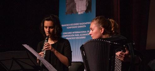 premios Shanae Ishida y Francisco Uberto, ganadores del X Concurso de composición para acordeón Francisco Escudero