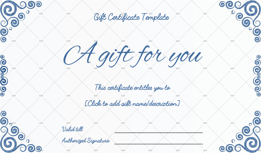 Gift Certificate Template Word Blue Happy Birthday Marriam2019 06 27T211048 0000