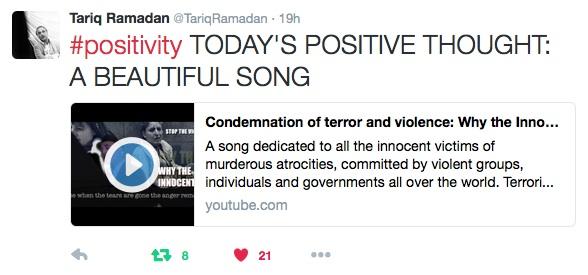 Tariq Ramadan tweet