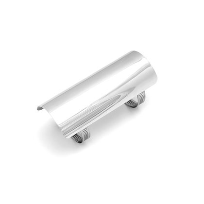 heat shield for 2 57 mm exhaust 152 mm long chrome