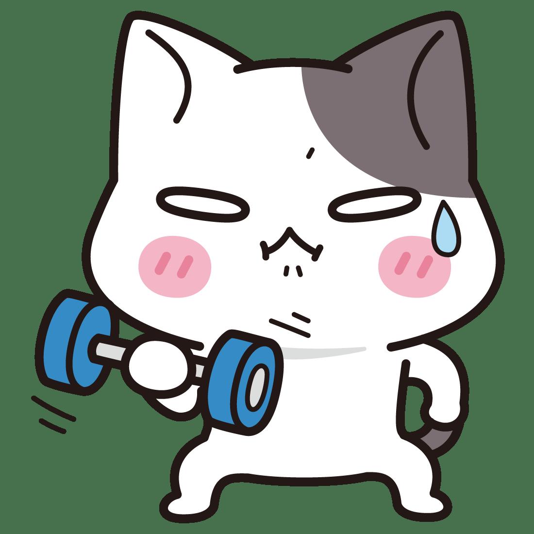 筋トレ!<ぶち猫 にゃんこ>