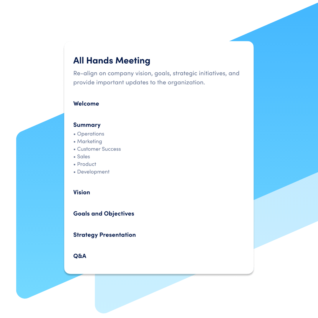 all-hands meeting template